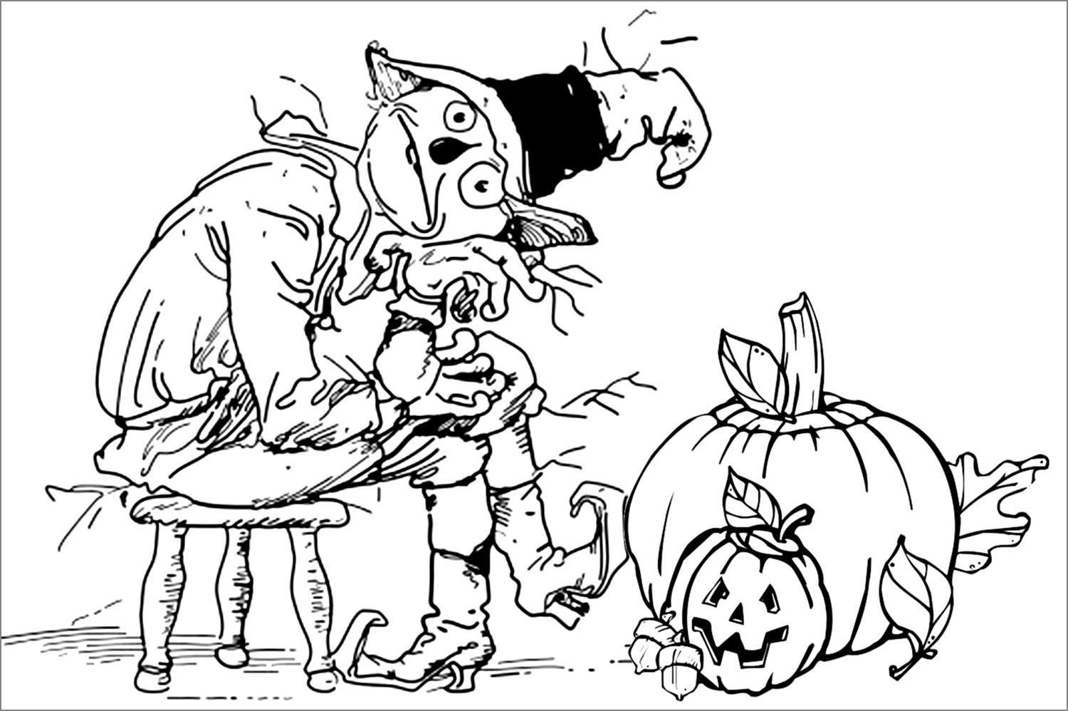 Printable Halloween Coloring Pages For Adults