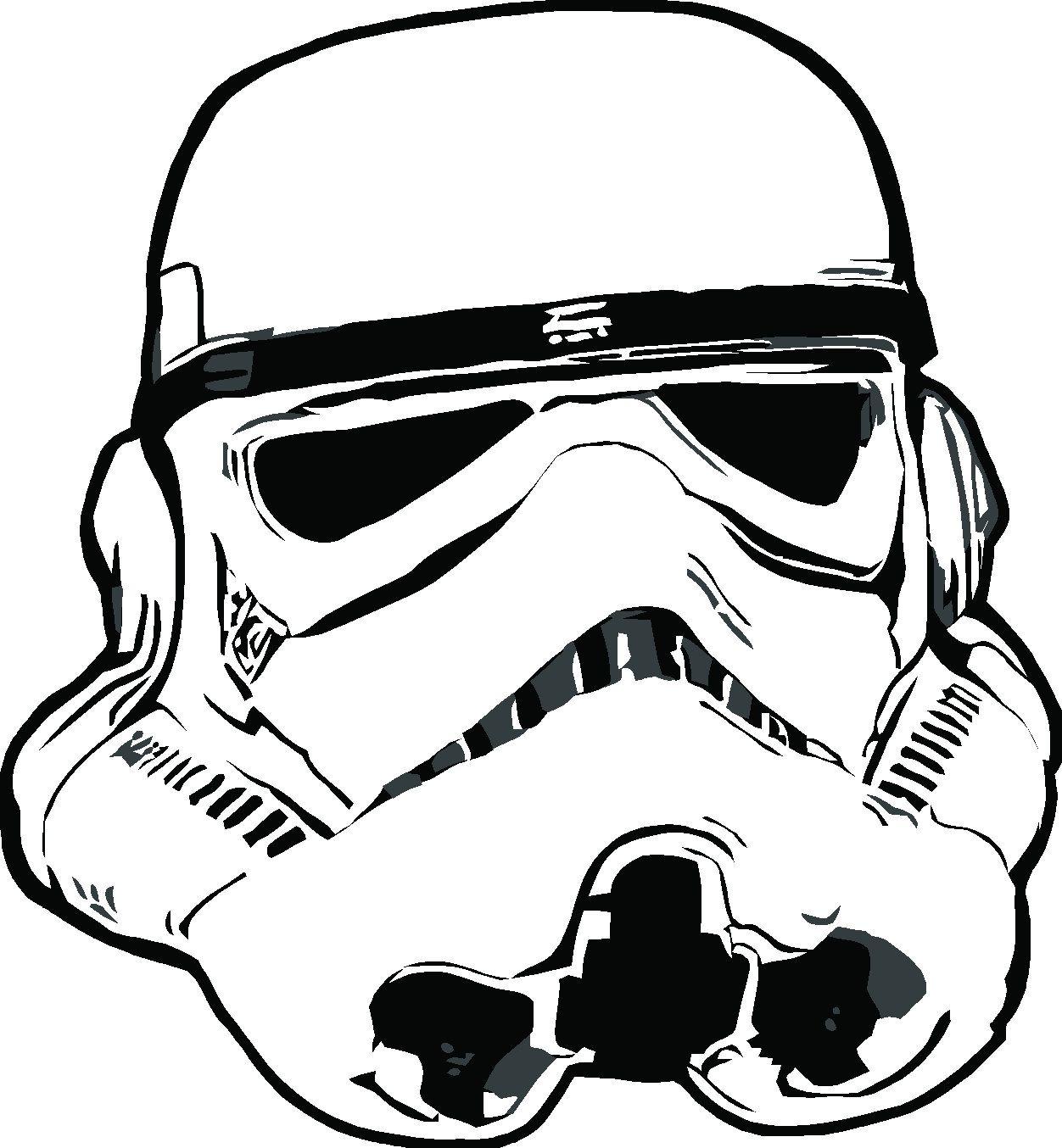 Stormtrooper Helmet Coloring Page