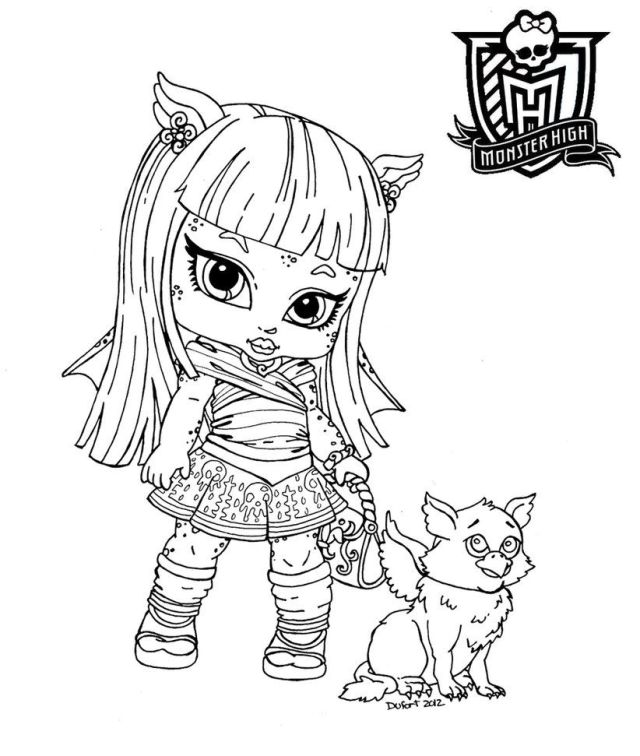 Baby Monster High - Coloring Pages For Kids And For Adults