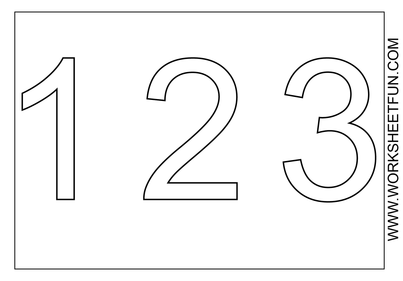 Bubble Number 3 Coloring Pages