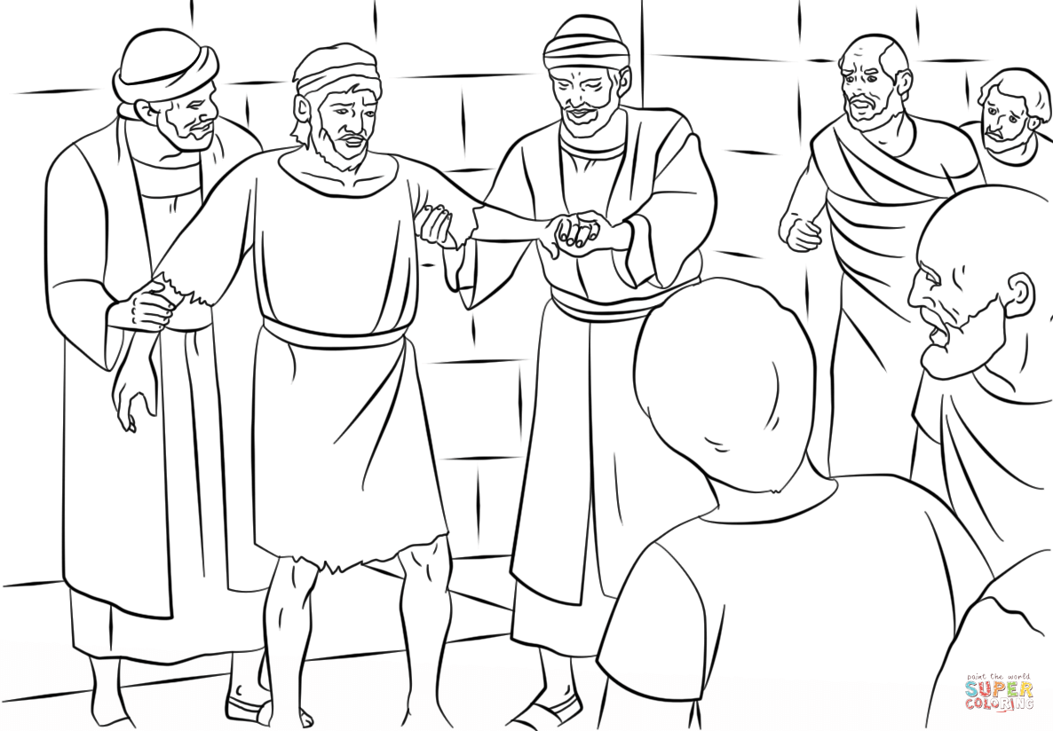 Paul And Barnabas In Lystra Coloring Page