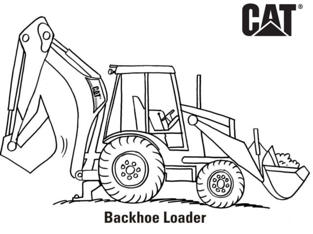 Backhoe Coloring Pages - Coloring Home