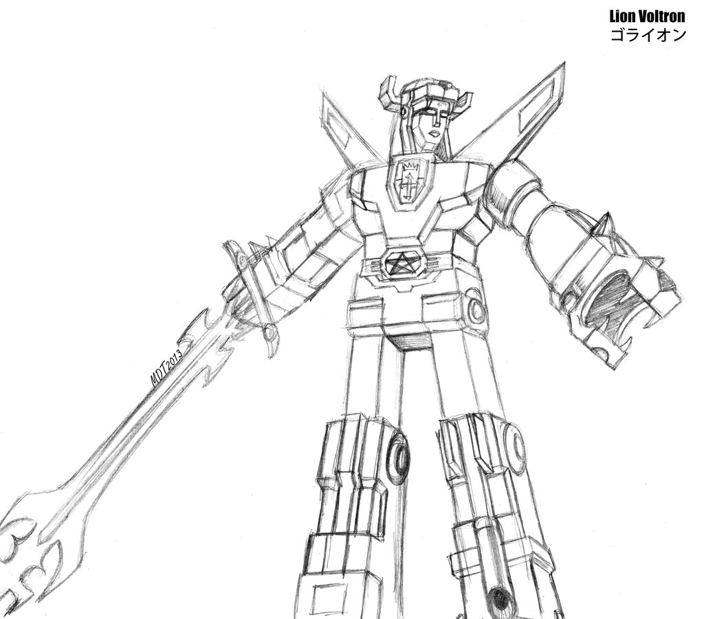 Defenders Of Voltron Coloring Book Pages Voltron News And Updates