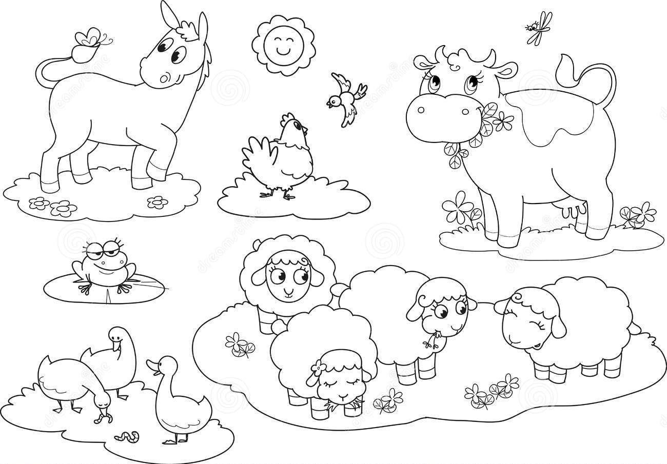 Farm Animals Coloring Pages And Activity Sheets