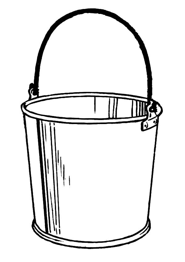 Water Bucket Page Coloring Pages