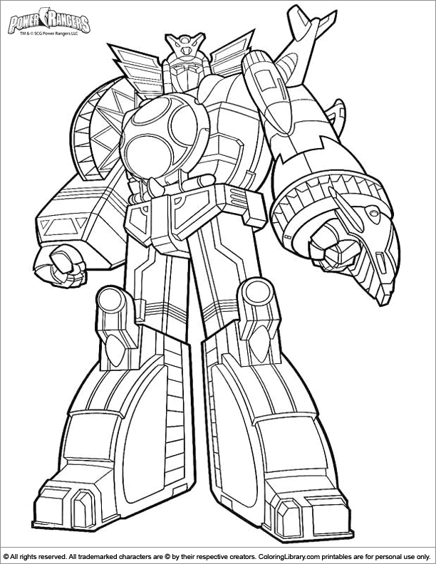 Megazord Coloring Pages : megazord, coloring, pages, Megazord, Coloring, Pages