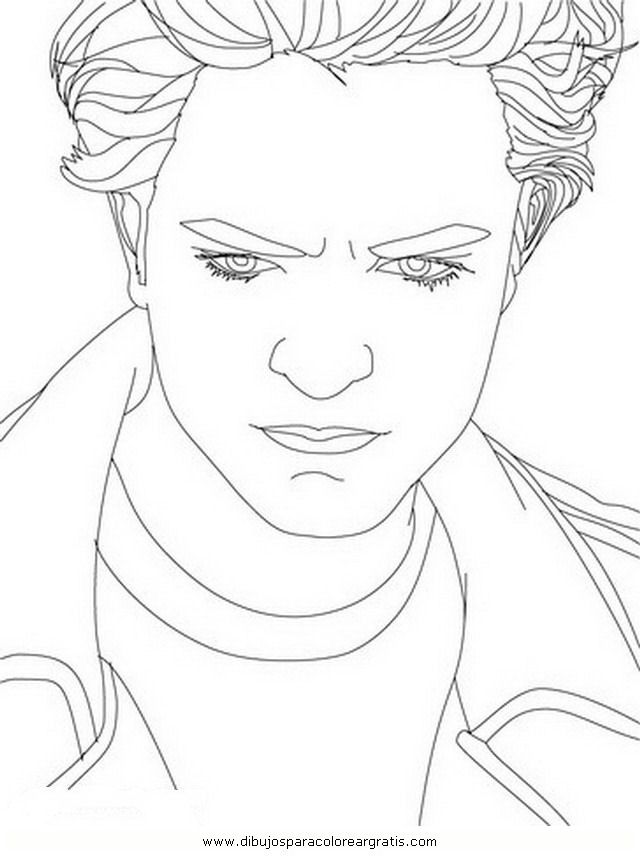 Edward Cullen Coloring Pages Coloring Home