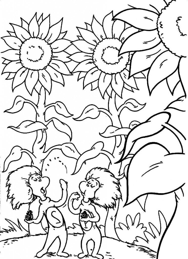Kids Free Coloring Pages To Print Dr Seuss