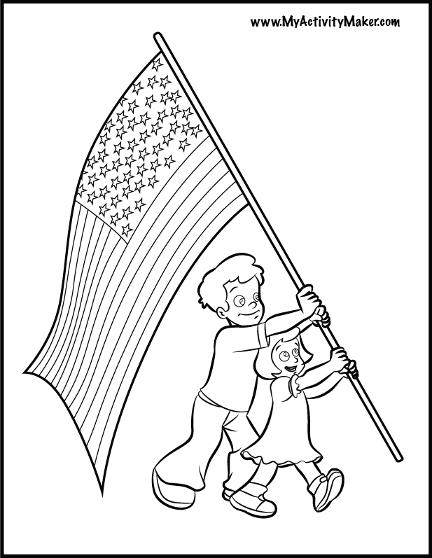 flag day coloring pages printable  coloring home