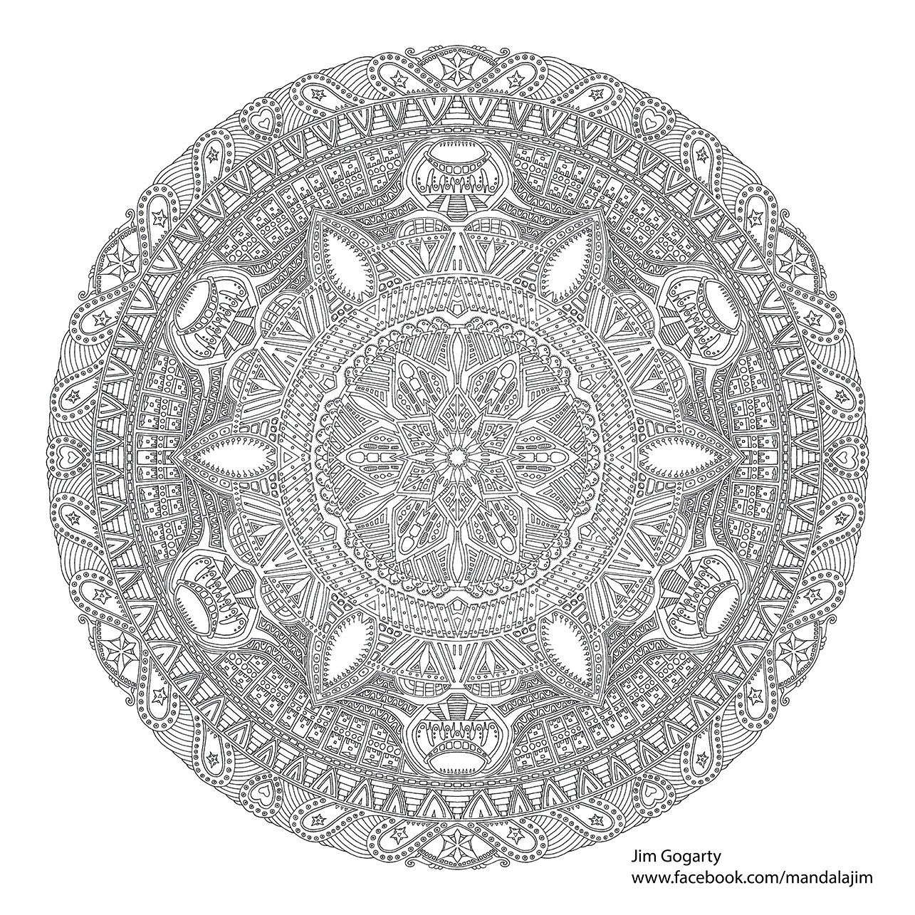Mandala Free Printable Coloring Pages For Adults Advanced Novocom Top
