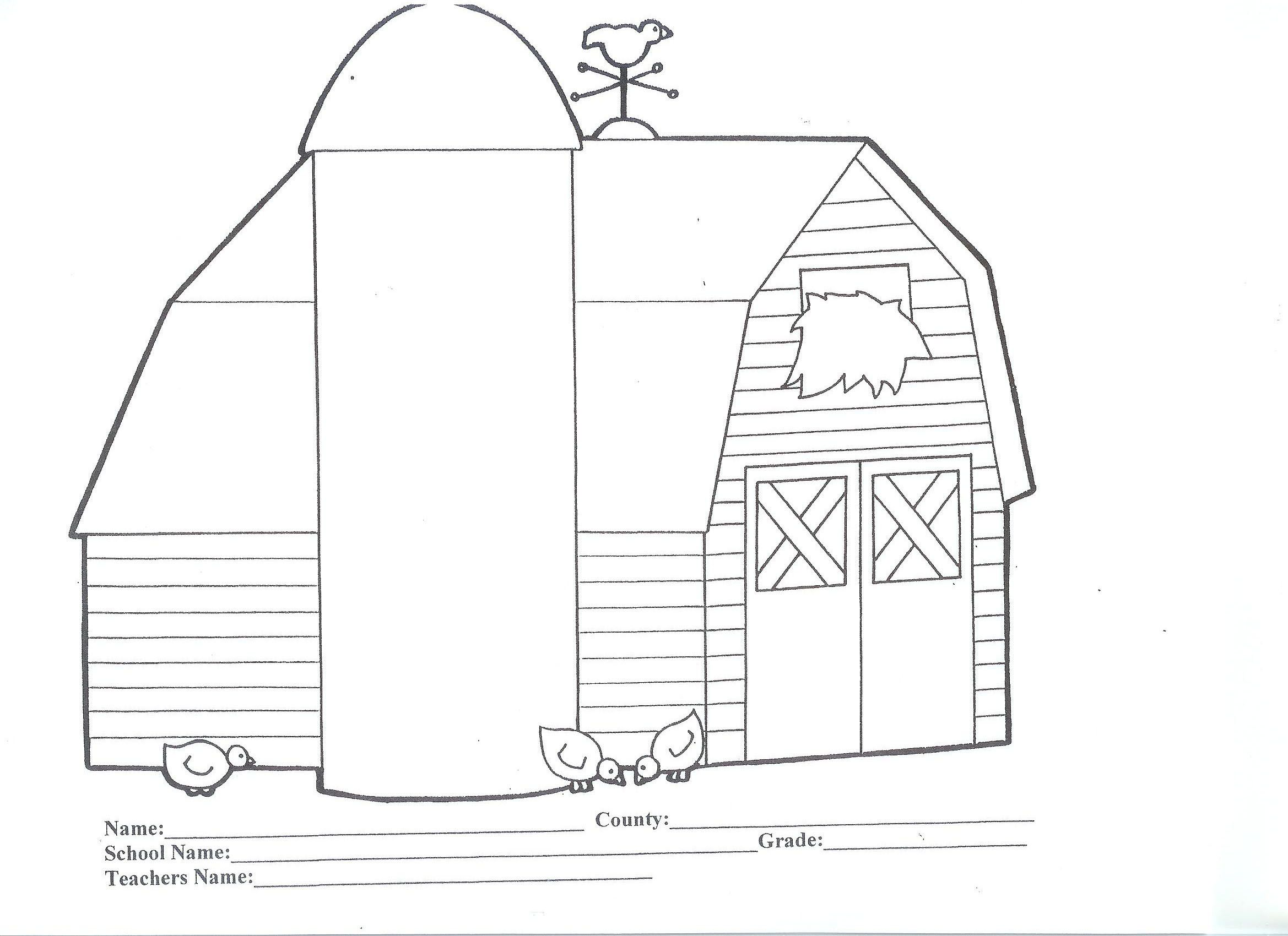 Best Photos Of Barn Coloring Pages
