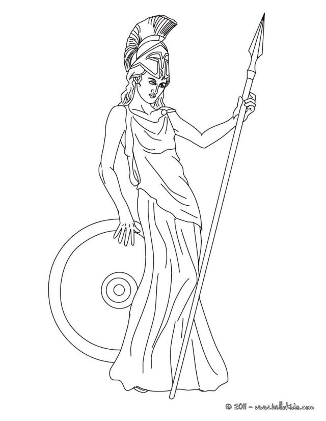 Athena Coloring Pages - Coloring Home