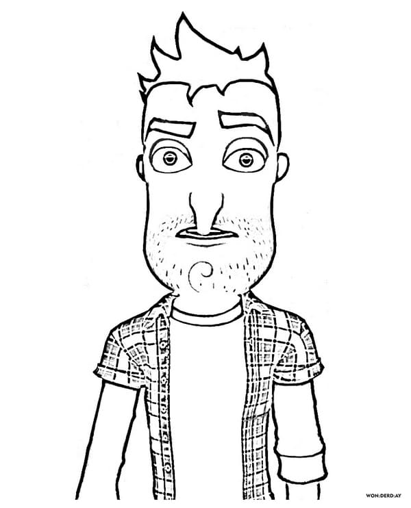 Hello Neighbor Coloring Pages : hello, neighbor, coloring, pages, Hello, Neighbor, Coloring, Pages