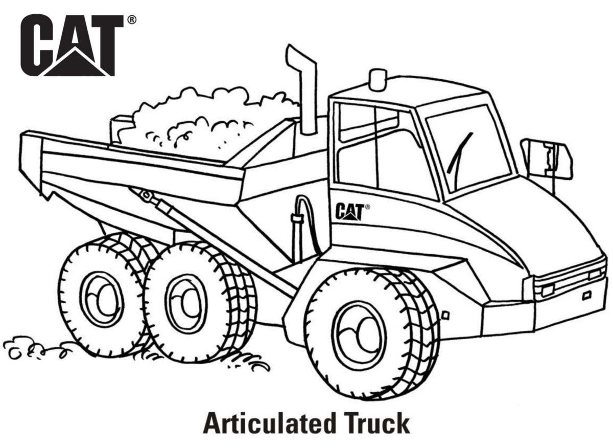 Backhoe Coloring Pages
