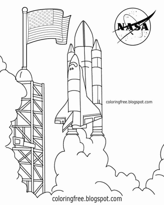 Nasa Coloring Pages - Coloring Home
