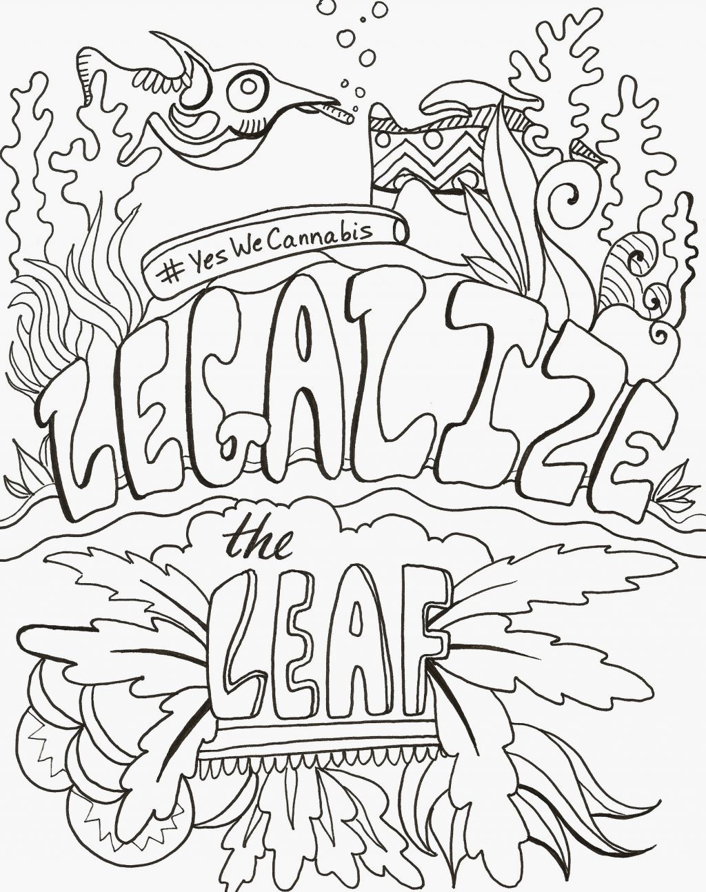 Hippie Stoner Coloring Pages : hippie, stoner, coloring, pages, Stoner, Coloring, Pages