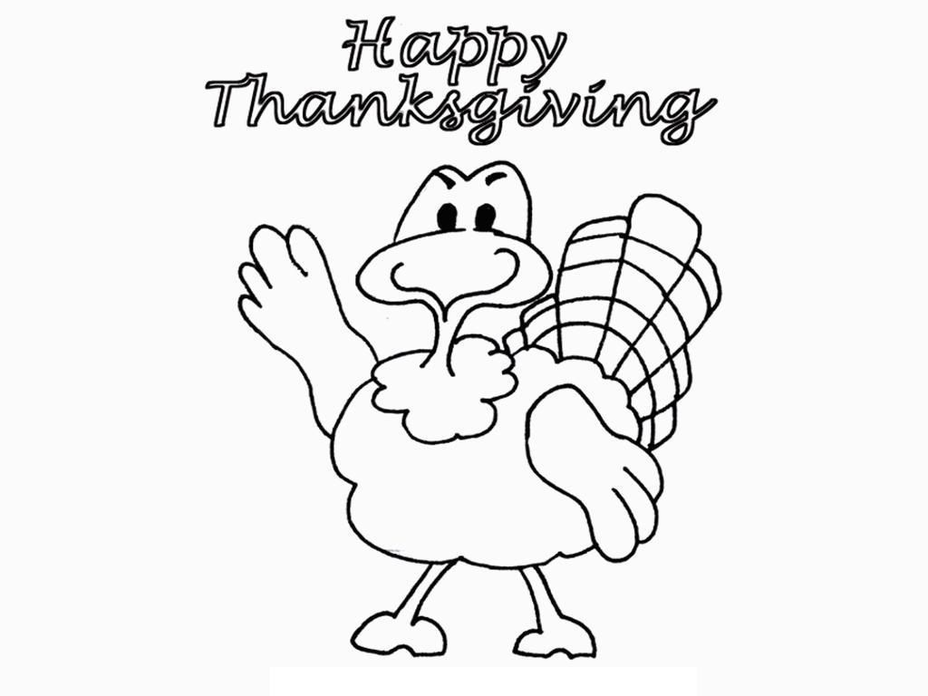 Kids Thanksgiving Coloring Page Funny