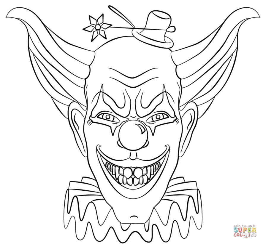 Unique Scary Clown Coloring Pages Model Resume Ideas dospilasinfo