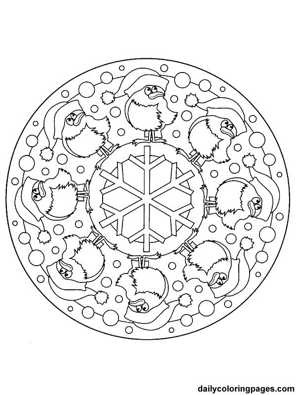 Christmas Mandalas : christmas, mandalas, Christmas, Mandalas, Coloring, Pages, Adults