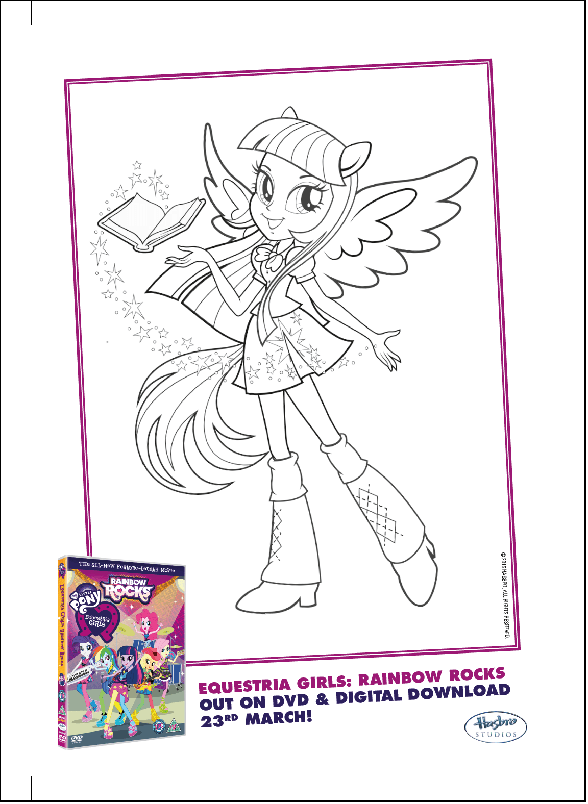 Twilight Sparkle Equestria Girls Coloring Pages