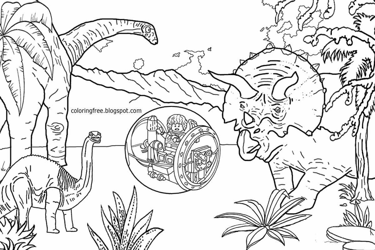 8 Pics Of Lego Jurassic World Coloring Pages Printable Jurassic