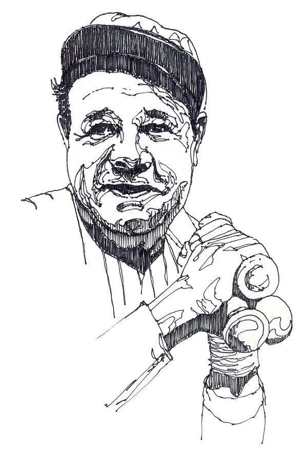 Babe Ruth Pages Coloring Pages