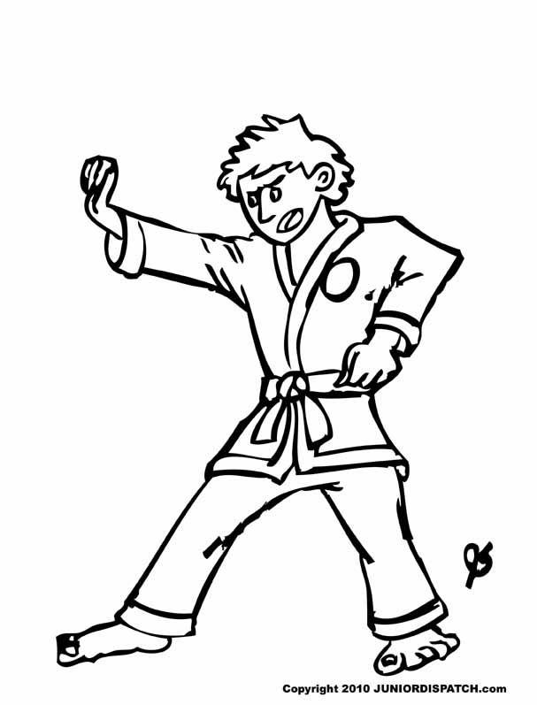 Dibujos Karate Para Colorear Auto Electrical Wiring Diagram