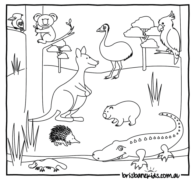 Australia Coloring Page - Coloring Home