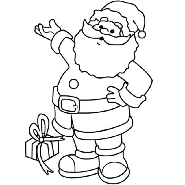 Christmas Coloring Pages Printable Santa Claus  Christmas