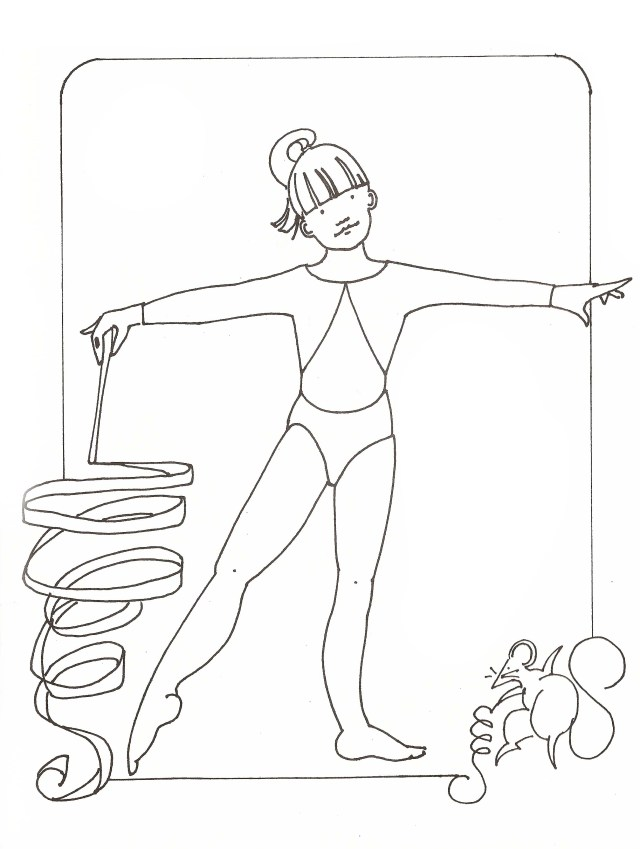 Barbie Gymnastic Coloring Pages For Girls - Coloring Pages For All