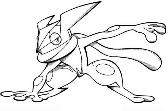 Greninja Coloring Pages Coloring Home