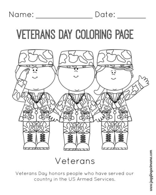 small resolution of Veterans Day Coloring Pages Free - Coloring Home