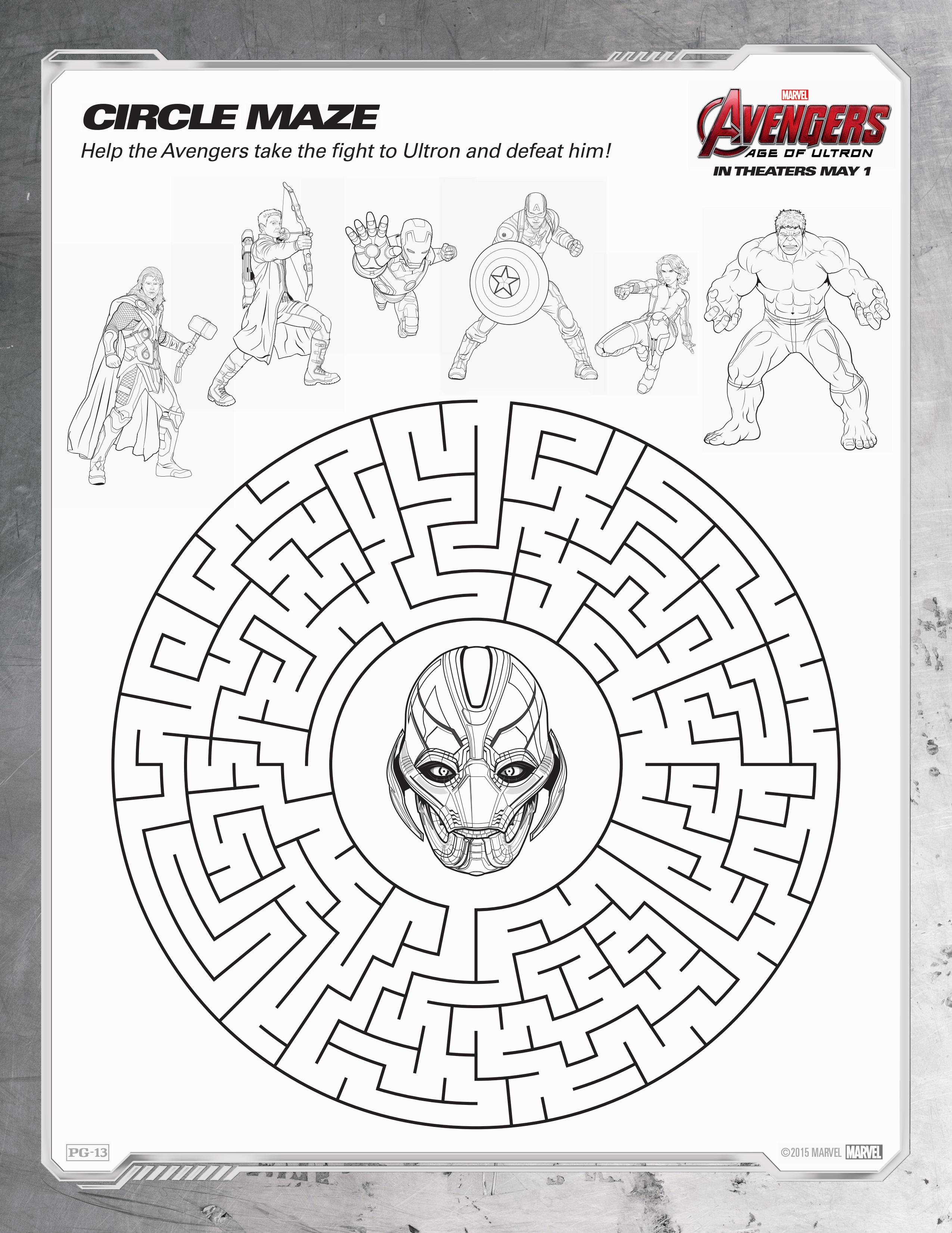 Avengers Age Of Ultron Coloring Sheets 14