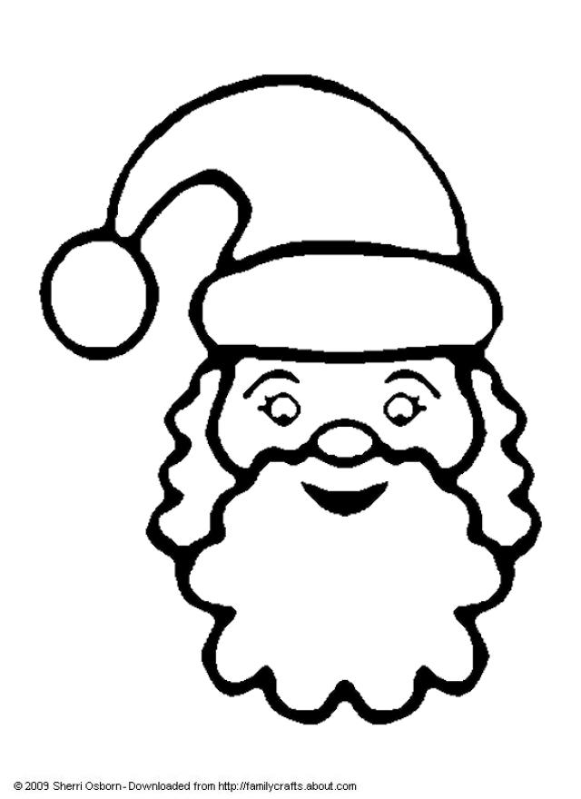 Santa Claus Face With No Beard Coloring Page Coloring Home