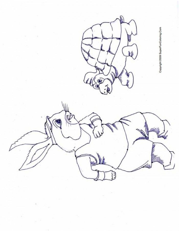 The Tortoise And Hare Coloring Page Coloring Pages