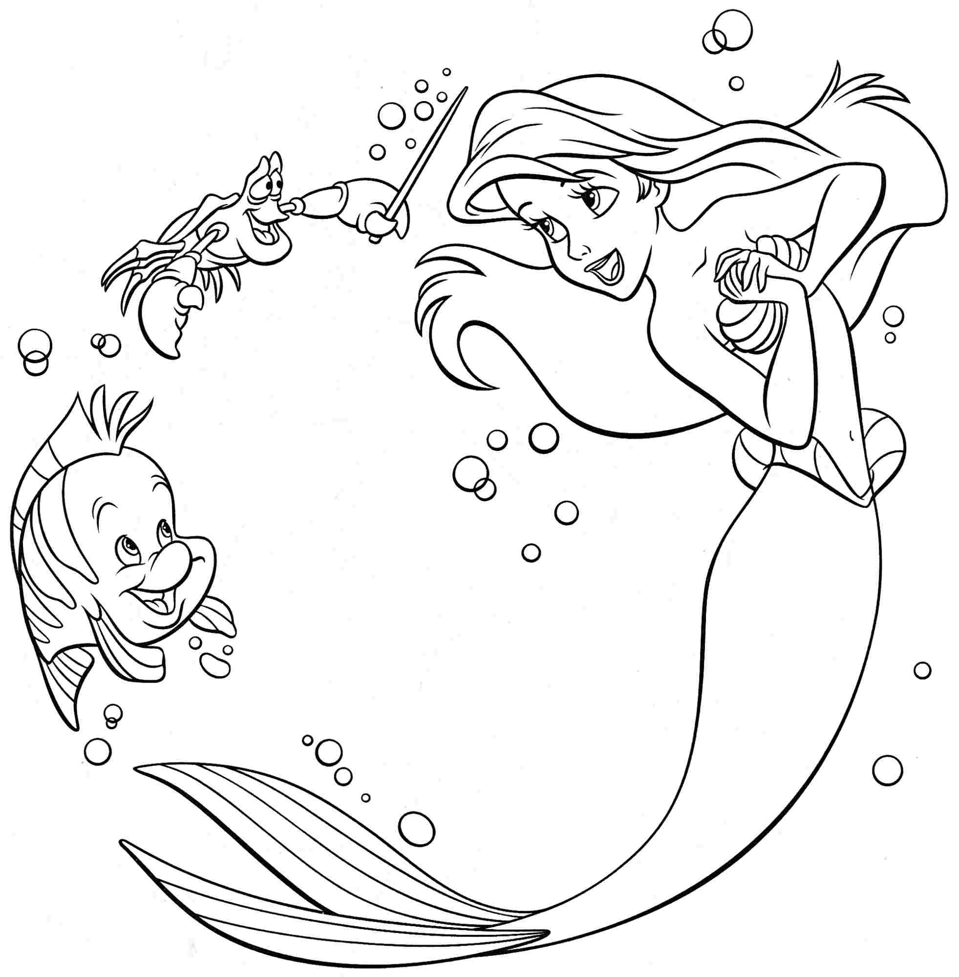 Disney Princesses Cartoon Coloring Pages