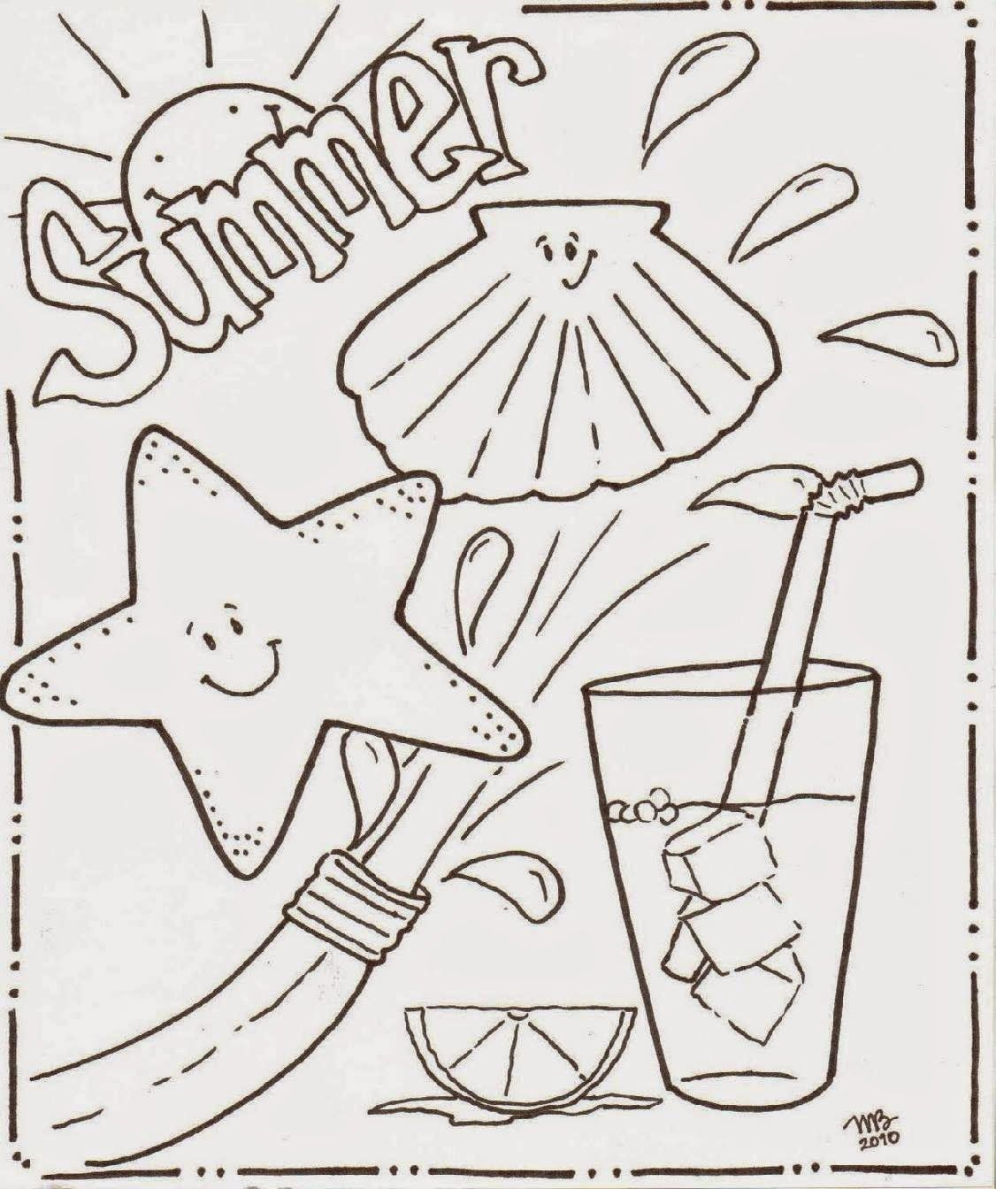 Summer Coloring Pages Math