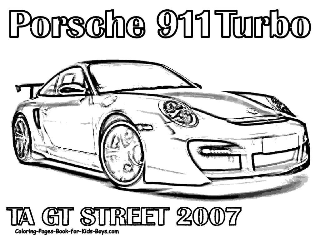 Coloring Pages Porsche