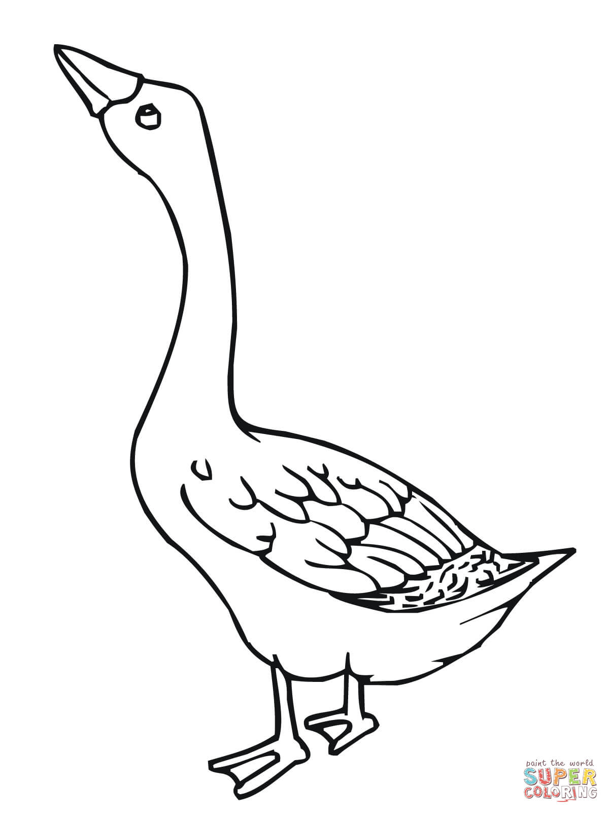 Baby Goose Coloring Page