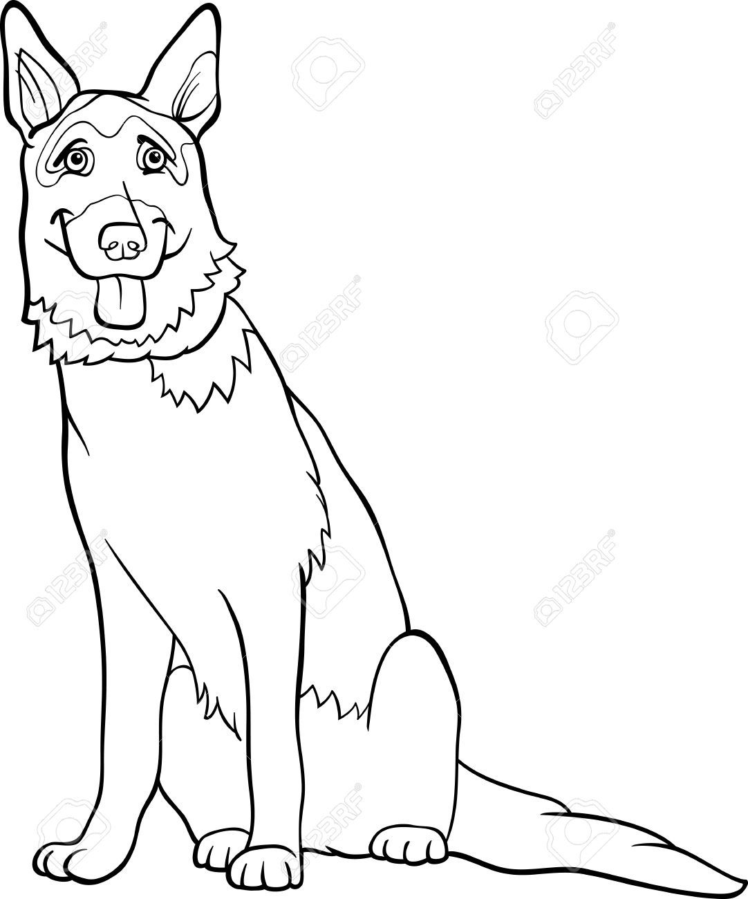 German Shepherd Coloring Pages To Download And Print For