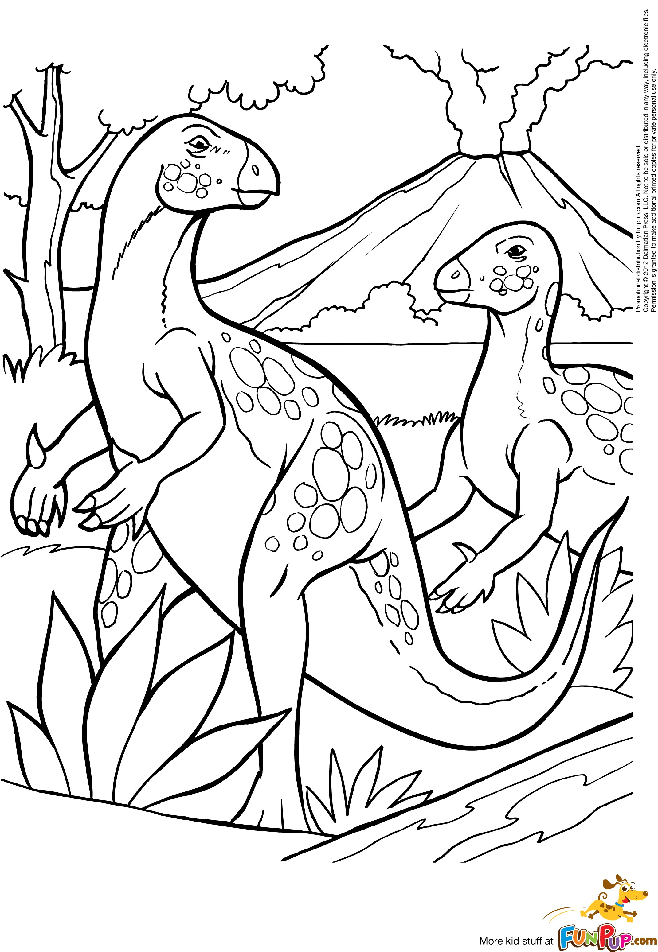 Volcano Coloring Pages For Kids