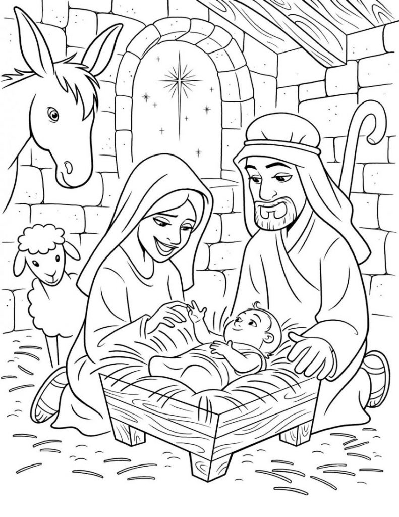 Baby Jesus Coloring Pages : jesus, coloring, pages, Coloring, Jesus, Pages, Sheet, Pagestable