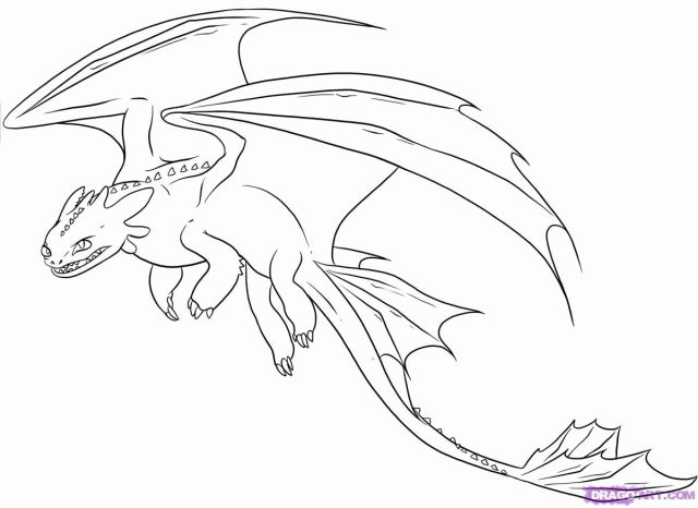 Light Fury Coloring Pages - Coloring Home