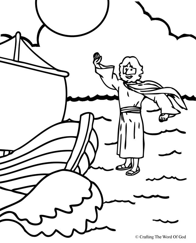 Jesus Walks On Water Coloring Page Crafting The Word Of God Coloring Home