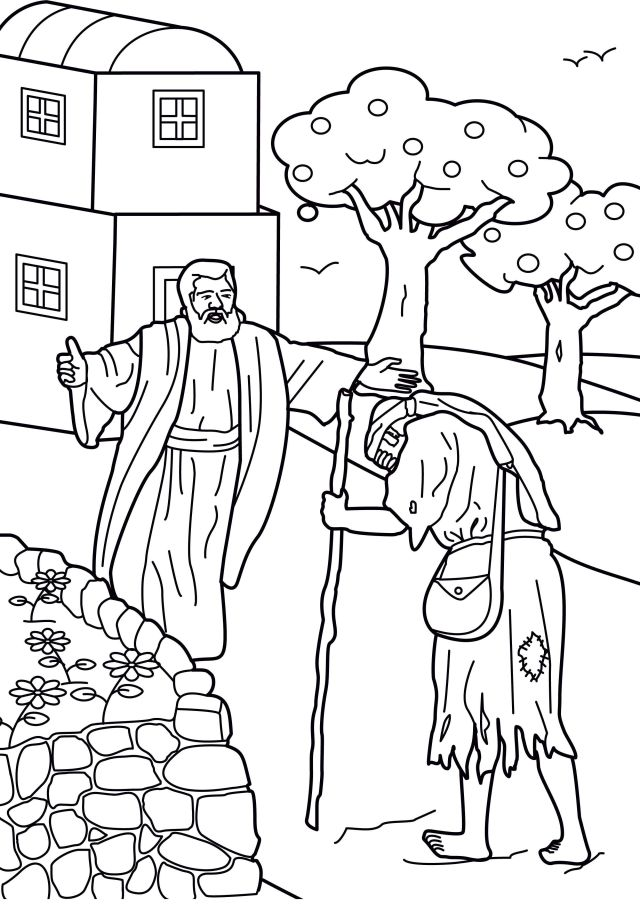 Prodigal Son Coloring Page  Coloring Pages - Coloring Home
