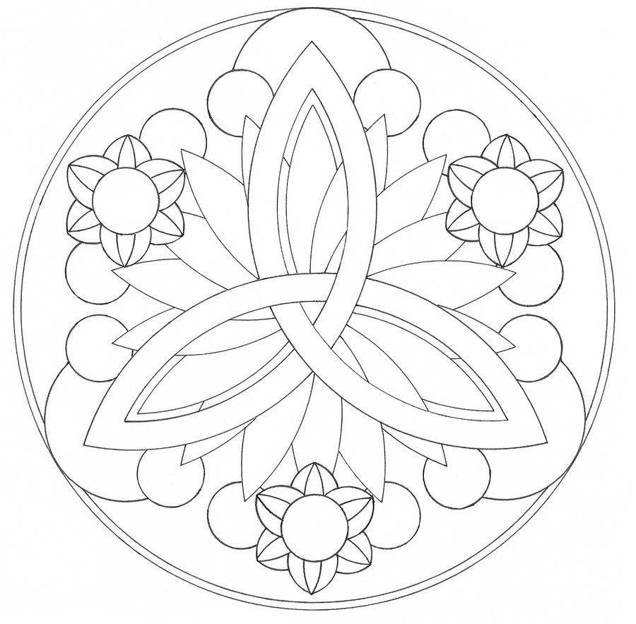 9 Pics Of Easy Mandala Designs Coloring Pages Simple Mandala Coloring Home