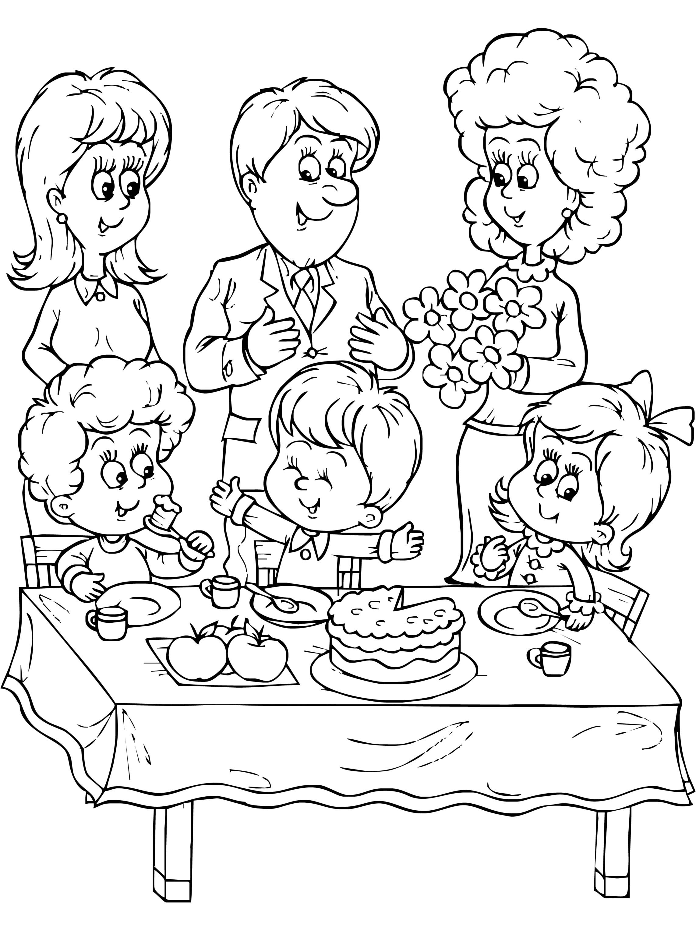 Coloring Pages Of Family