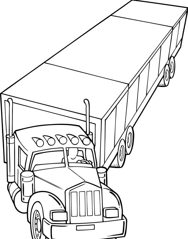 20 Wheeler Coloring Pages - Coloring Home
