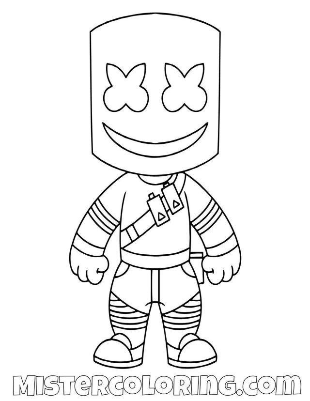 Marshmello Coloring Pages - Coloring Home
