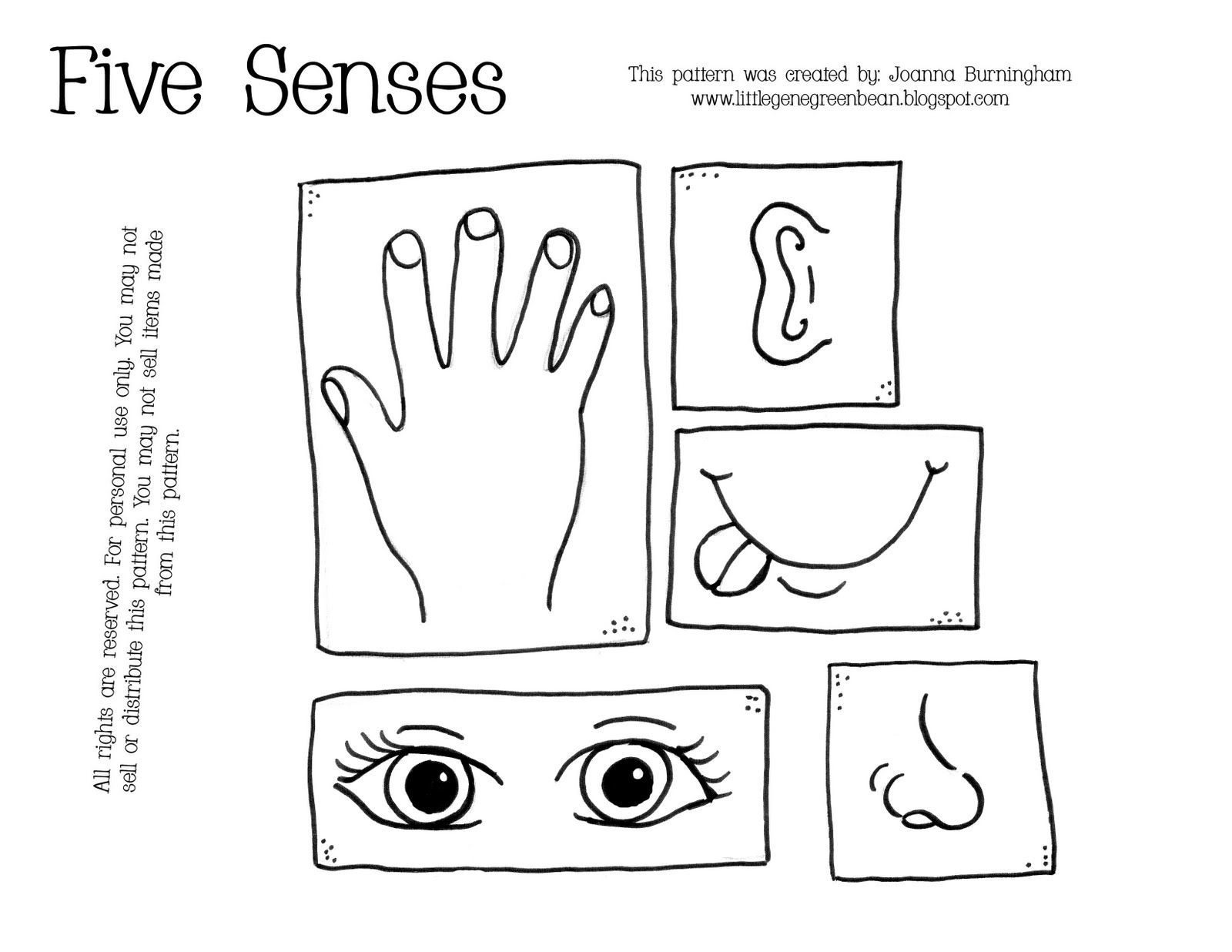 The Five Senses Coloring Pages